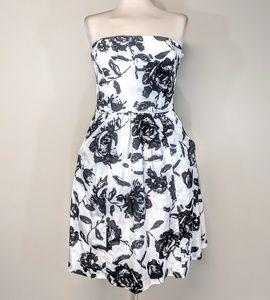 Ann Taylor Loft Strapless Floral Dress
